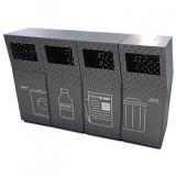 组合式镂空不锈钢分类垃圾桶