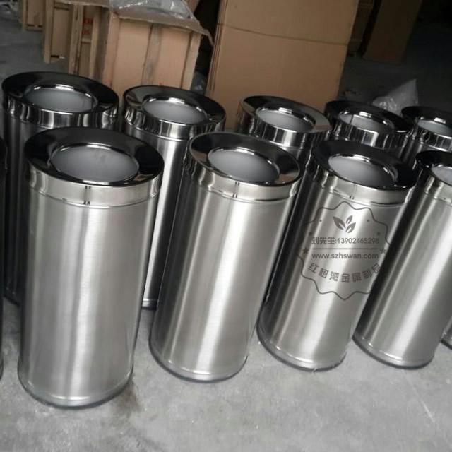 斜口不锈钢圆形垃圾桶图片001