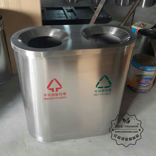 万达商场不锈钢垃圾桶图片001