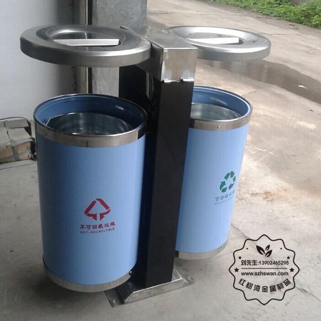 不锈钢分类环保垃圾桶图片004