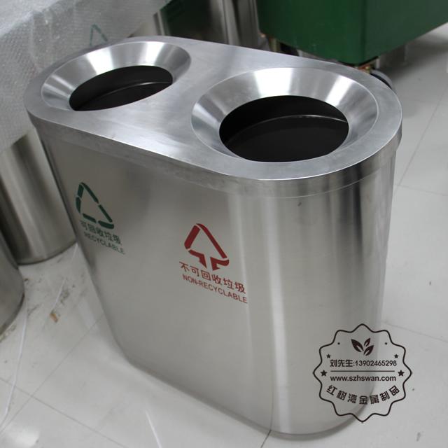 万达商场不锈钢垃圾桶图片002