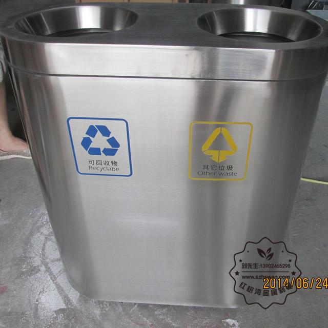 万达商场不锈钢垃圾桶图片003