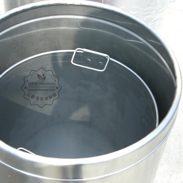 不锈钢圆形斜口垃圾筒图片006