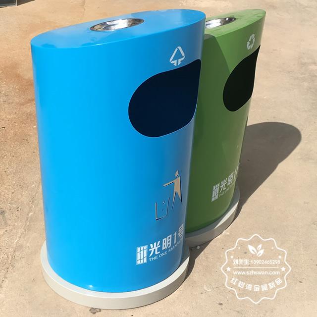 游乐园分类钢制垃圾箱图片1