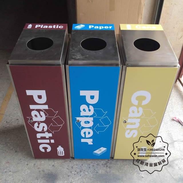 无盖不锈钢垃圾桶照片008