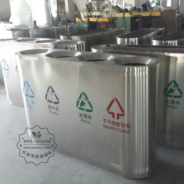 无盖不锈钢垃圾桶照片005