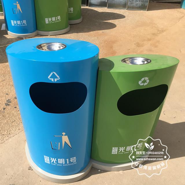 游乐园分类钢制垃圾箱图片2