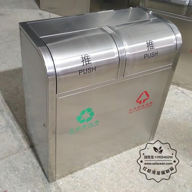 不锈钢分类环保垃圾桶图片002