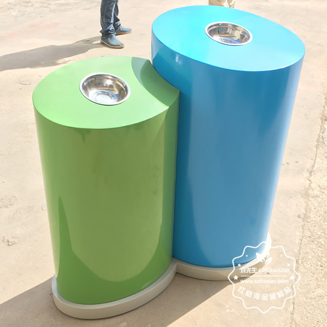 游乐园分类钢制垃圾箱图片3