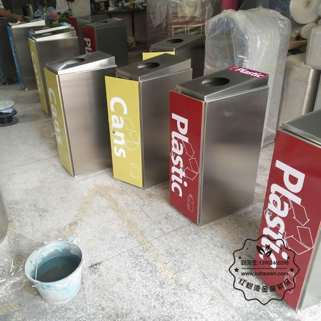 不锈钢四分类环保回收桶图片003