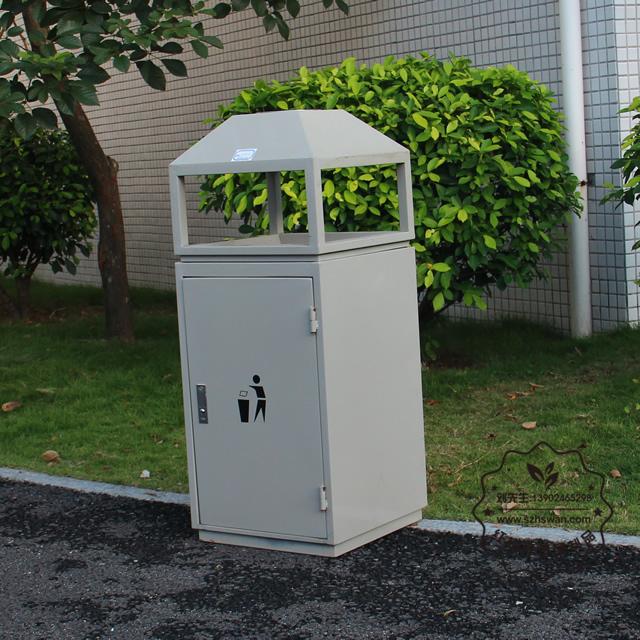 室内屋形钢制垃圾桶图片003