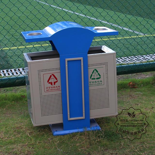 双烟缸户外分类钢制垃圾桶图片003