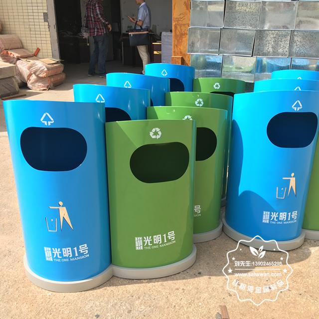游乐园分类钢制垃圾箱图片5