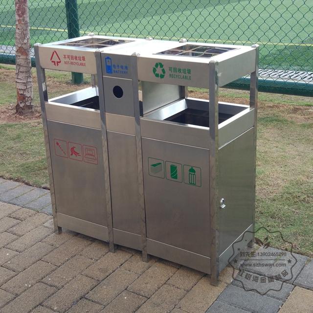 不锈钢分类环保垃圾桶图片003