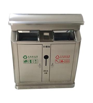 304加厚户外不锈钢分类垃圾桶主图