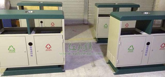 钢板分类垃圾桶图片001