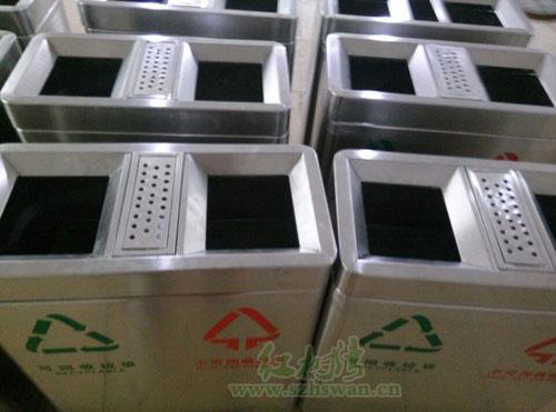 深圳罗湖小学选购不锈钢分类垃圾桶
