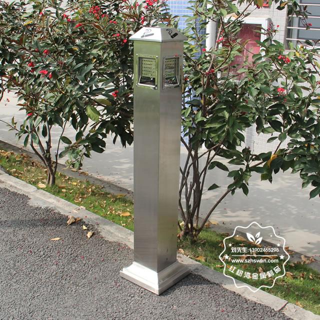 户外方形不锈钢烟灰柱001
