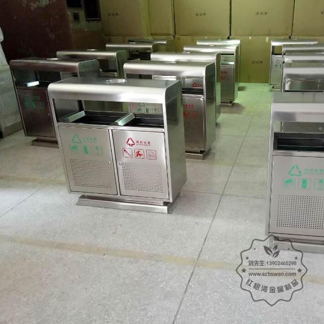 不锈钢地铁垃圾桶图片002