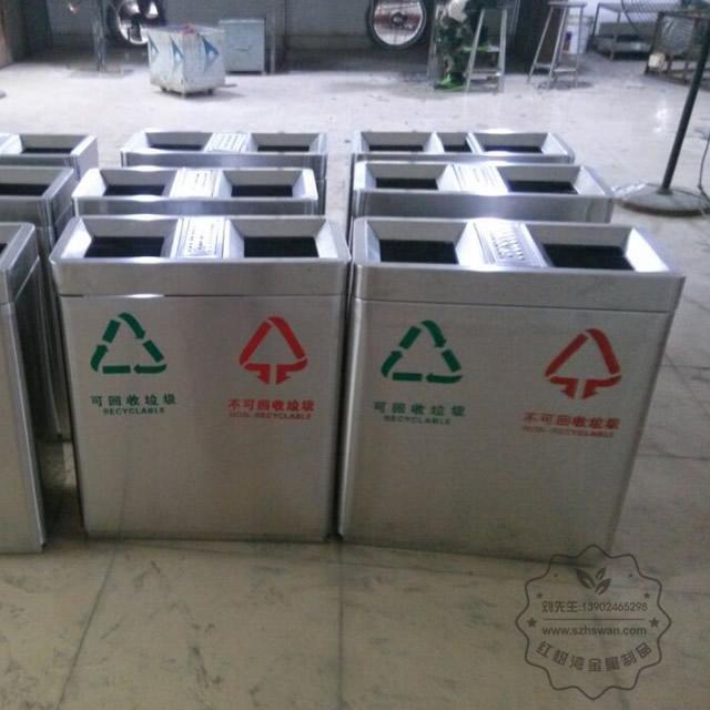不锈钢分类商场垃圾桶图片001