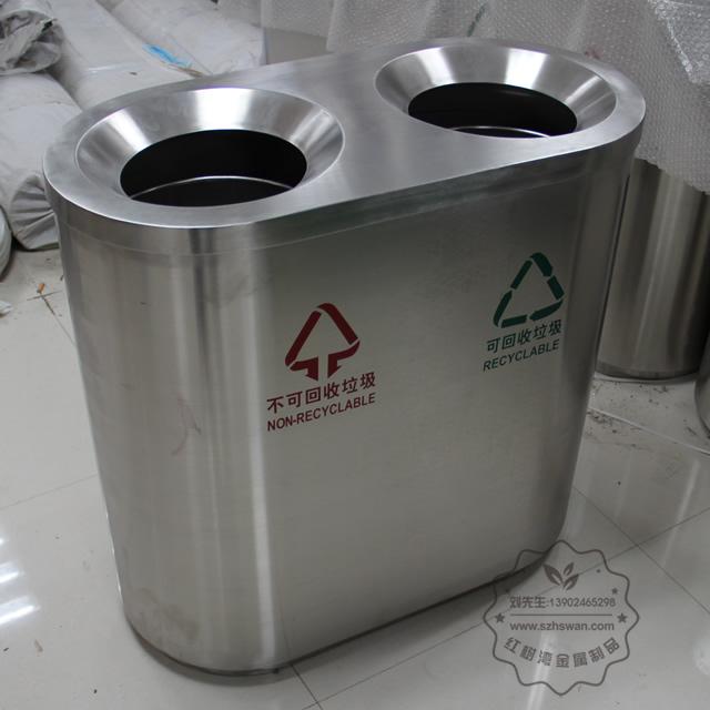 福建厦门室内分类不锈钢垃圾桶