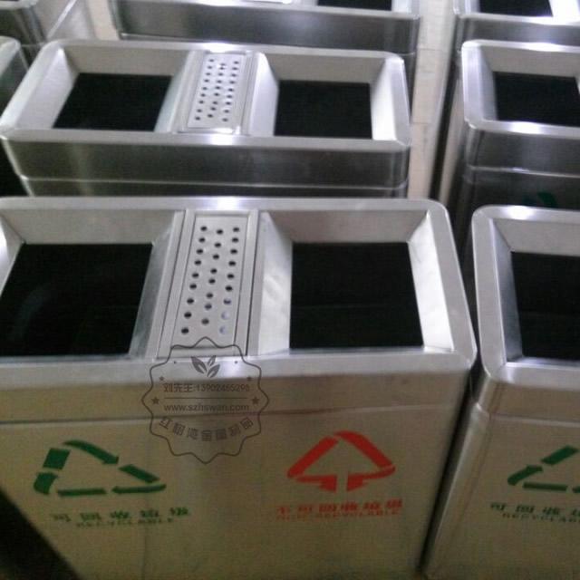 不锈钢分类商场垃圾桶图片002