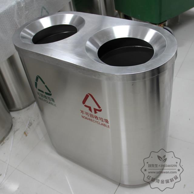 室内分类不锈钢垃圾桶