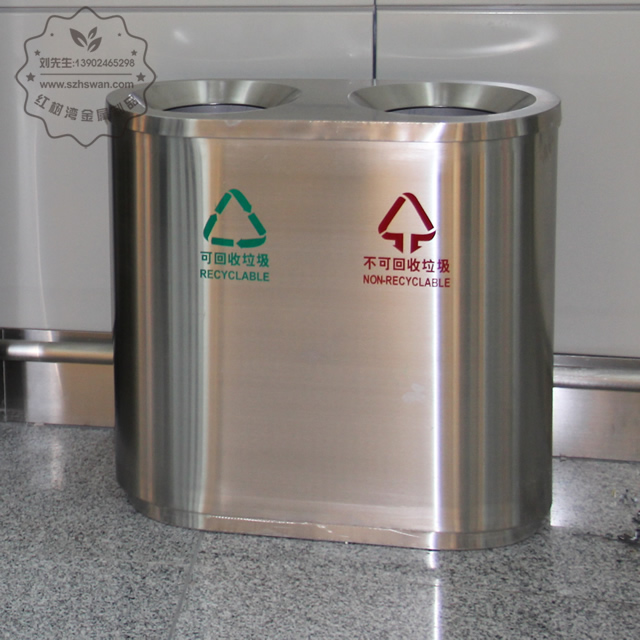不锈钢贵阳机场垃圾桶图片003