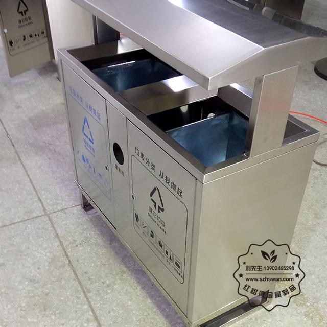 户外分类方形垃圾桶图片002