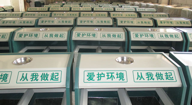 不锈钢垃圾桶和铁板喷塑烤漆垃圾桶工艺区别
