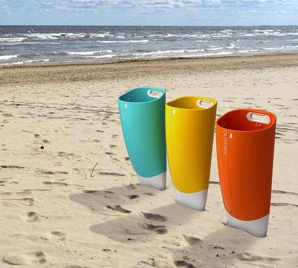 海滩垃圾桶成海滩上的环保神器
