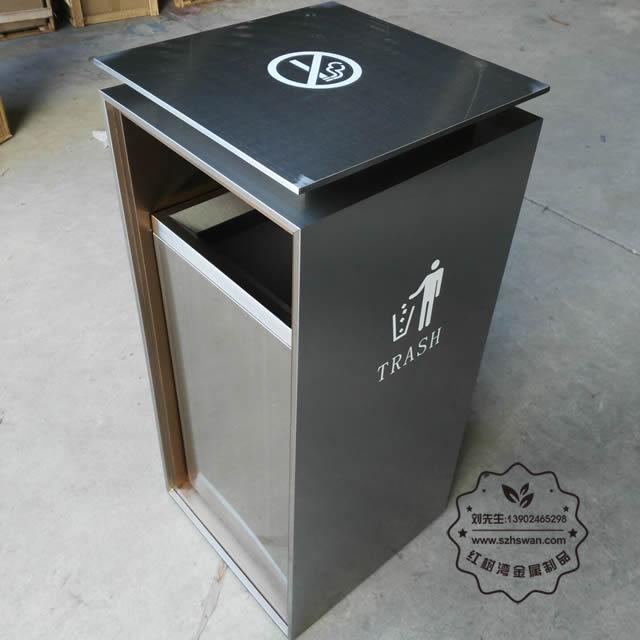 方形不锈钢垃圾桶图片002