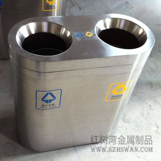 商场不锈钢垃圾桶003