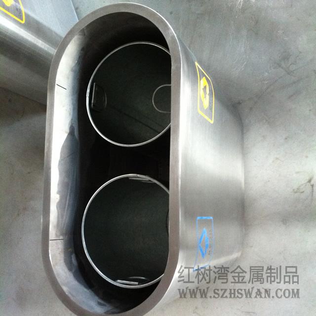 万达百货室内不锈钢分类垃圾桶合作案例