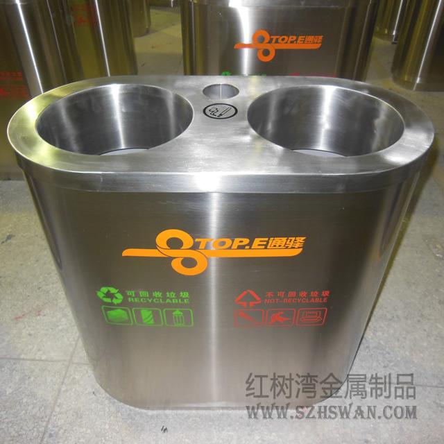 室内分类不锈钢垃圾桶图片