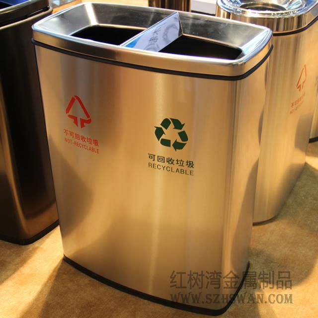 沙井人民医院室内不锈钢分类垃圾桶采购工程案例