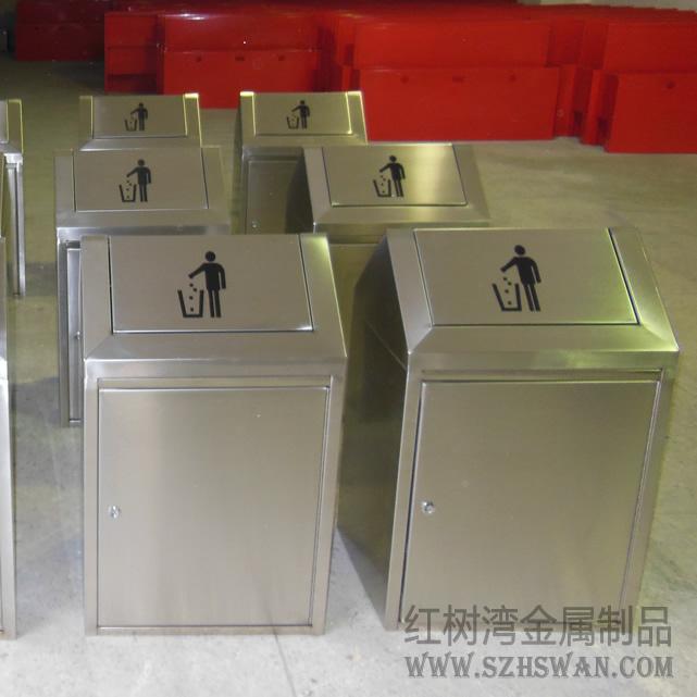 房式不锈钢垃圾箱图片001