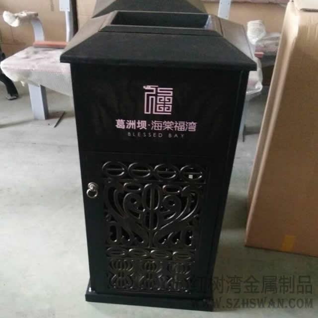 方形不锈钢垃圾桶入驻海南三亚物业