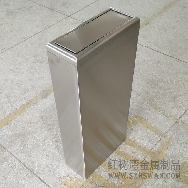 深圳腾讯小型室内摇盖式不锈钢垃圾桶采购案例