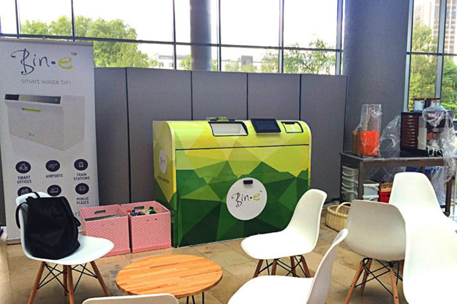 最新的人工智能垃圾桶能够自动分类垃圾