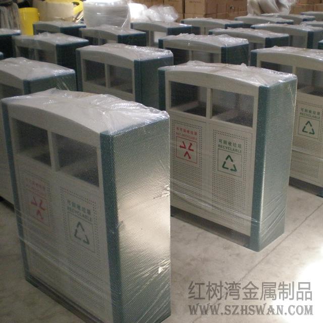 汕头大学冲孔钢制分类垃圾桶采购案例