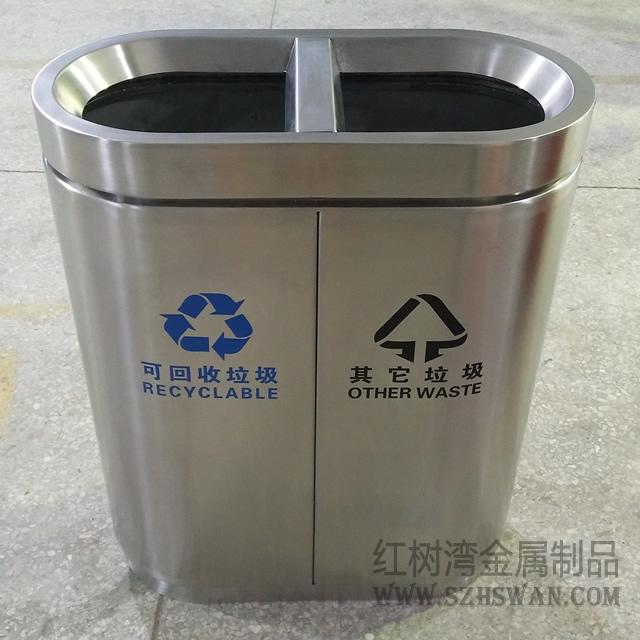 无盖不锈钢垃圾桶照片013