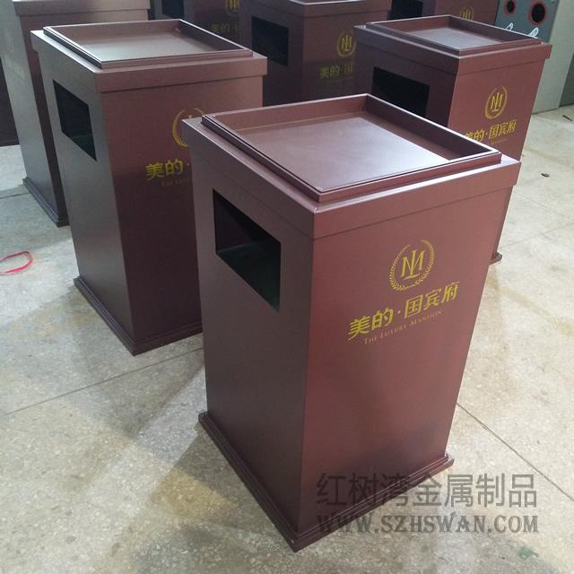 酒店常用室内不锈钢方形垃圾桶生产商图片