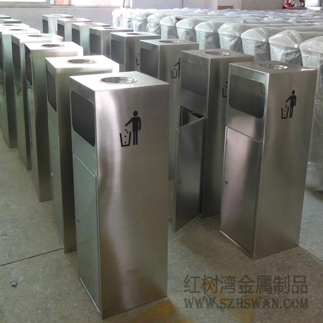 不锈钢圆柱灭烟垃圾桶图片