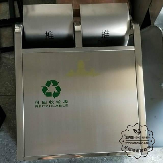 南昌滕王阁景区不锈钢分类垃圾桶02