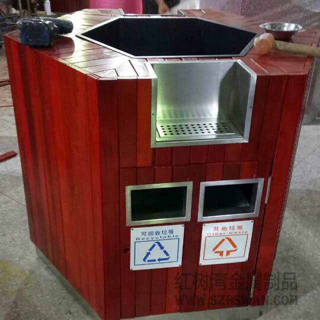 户外不锈钢分类垃圾桶的拼音怎么写的