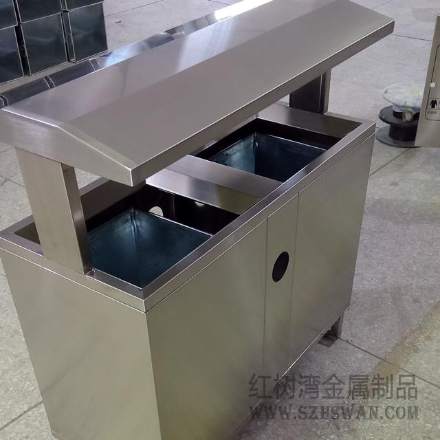 方便清理的户外分类不锈钢垃圾箱