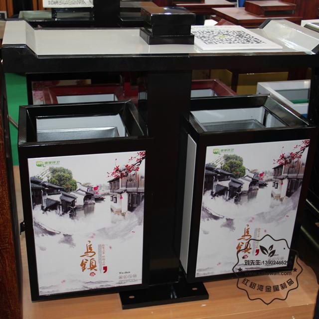 广告双分类户外不锈钢垃圾桶垃圾桶图片002