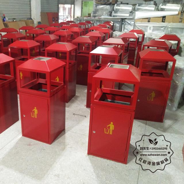 高温烤漆不锈钢垃圾桶图片002