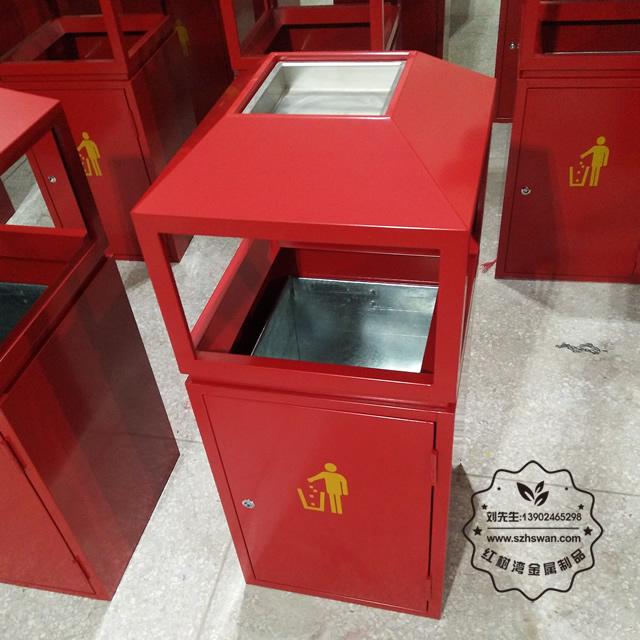 江门户外方形不锈钢垃圾箱采购案例